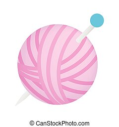 Ball of thread isometric 3d icon