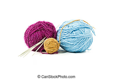 Ball of threads with spokes