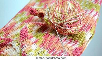 Ball of yarn for knitting, crochet
