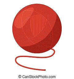 Ball of yarn icon, cartoon style