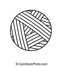 ball of yarn icon- vector illustration
