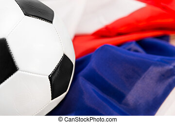 ball on a french flag