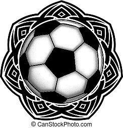 ball on pattern - Abstract vector illustration black and ...