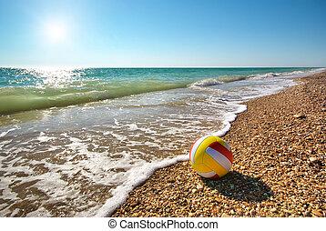 Ball on the beach