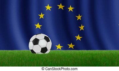 Ball on the flag