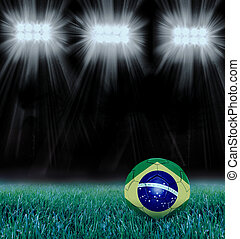 ball painted with the brazilian flag