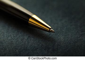 Ball pen - Black and Golden ball Pen over textured ...