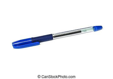 Ball pen - Plastic ballpoint pen isolated on white