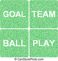 Ball, Play, Team, Goal signs