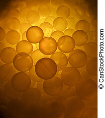 Ball pool with orange light.