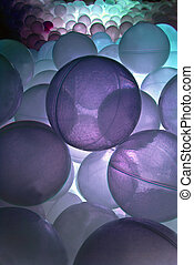 Ball pool with purple light