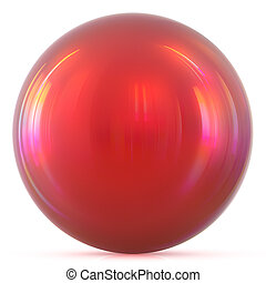 Ball red sphere round button basic circle drop geometric shape