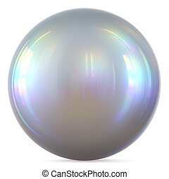 Ball silver sphere chrome white round button basic circle pearl