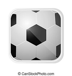 ball soccer background icon