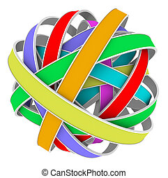 Ball Sphere Color Strips Messy Bundle
