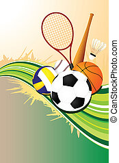 Ball sports background - A vector illustration of ball ...