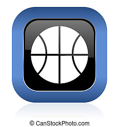 ball square glossy icon basketball sign