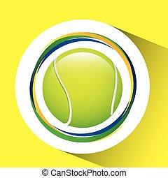 ball tennis olympic games brazilian flag colors