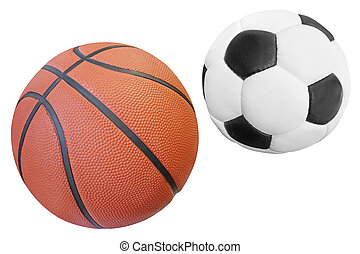 Ball under the white background