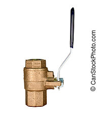 ball valve isolated with path