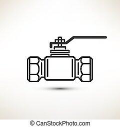 ball valve vector symbol