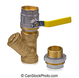 Ball valve with filter and deep cleaning hygienic squeegee -...