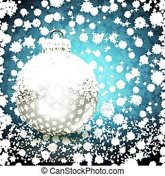 ball., vecteur, fond, illustration, noël