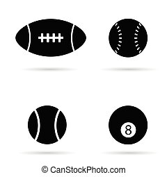 ball vector black silhouette