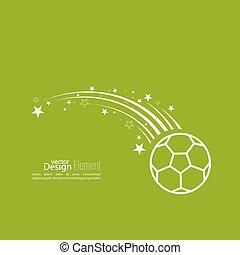 ball., vector, icono, futbol