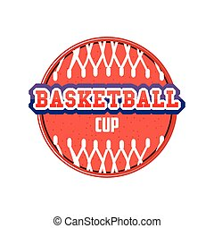 ball with basket of basketball detailed style icon vector design
