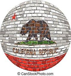 Ball with California flag - Illustration, California flag...