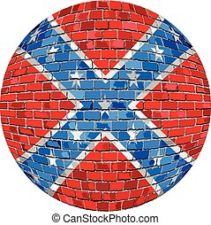Ball with Confederate flag