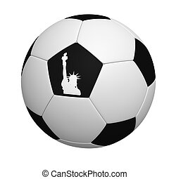 Ball with figure of a Statue of Freedom