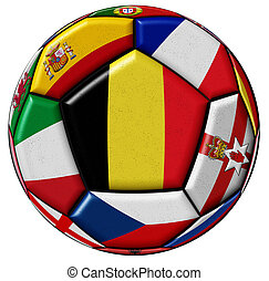Ball with flag of Belgium