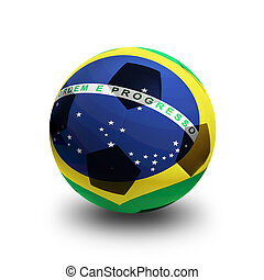 Ball with Flag of Brazil