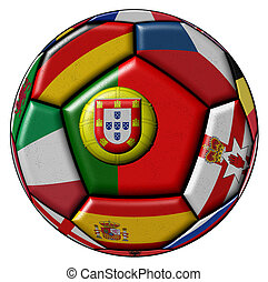 Ball with flag of Portugal