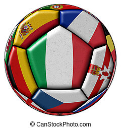 Ball with flags of Italy