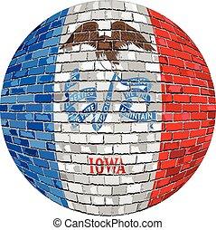 Ball with Iowa flag