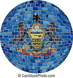 Ball with Pennsylvania flag - Illustration, Pennsylvania ...