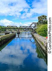 Ballard Locks and Steel Bridge