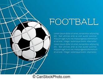 balle, affiche, football, vecteur, football, championnat