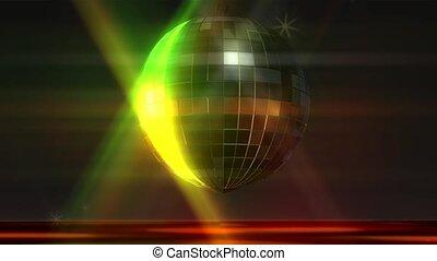 balle, animation, disco