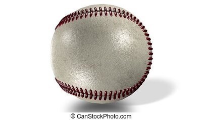 balle, animation, screen., milieu, rotation, base-ball, lustré, 3d