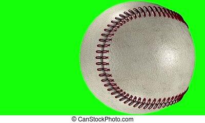 balle, animation, travers, arrière-plan., base-ball, rouler, transparent, 3d