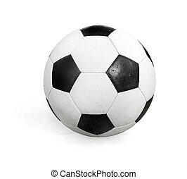 balle, arrière-plan., football, blanc, isolé