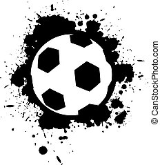 balle, art, tache, football