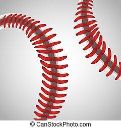 balle, base-ball, fond, texture