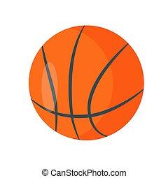 balle, basket-ball, illustration, arrière-plan., vecteur, blanc