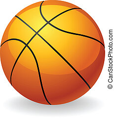 balle, basket-ball, illustration