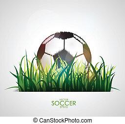 balle, blanc, football, fond